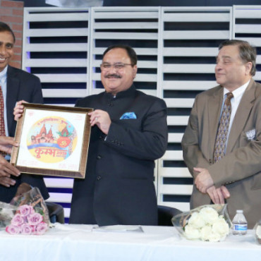 Health Minister J P Nadda hosted at a community reception at TV Asia in NJ